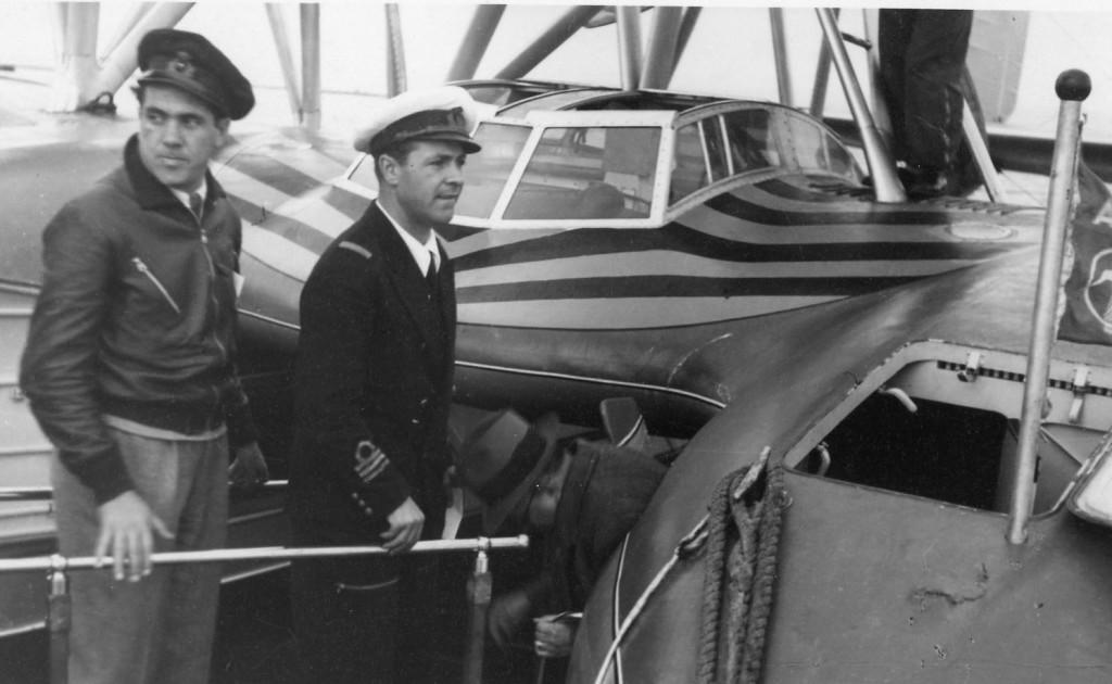 Pasquale Cappai e Cesare Carra con l'idrovolante S66