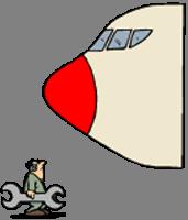 Meccanico davanti a Jumbo