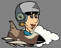 Pilota Donna su Jet e Nuvola