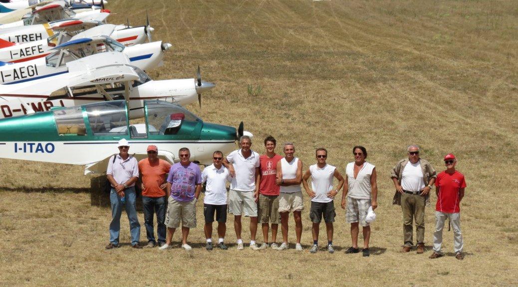 Quelli ritratti sono veri piloti. E che piloti! I piloti trainatori della Coppa Internazionale del Mediterraneo, Rieti - 2012