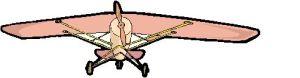 aeroplano ala alta rosa
