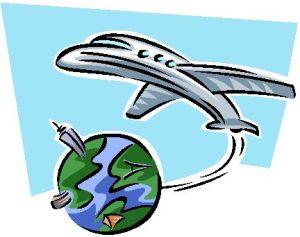 aeroplano intorno terra