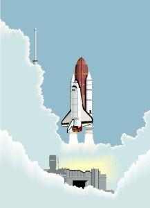 shuttle momento lancio