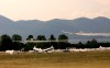 Alianti in atterraggio sull'aeroporto di Rieti in occasione della CIM - Coppa del Mediterraneo, gara internazionale che si tiene ad agosto