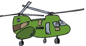 elicottero chinook verde