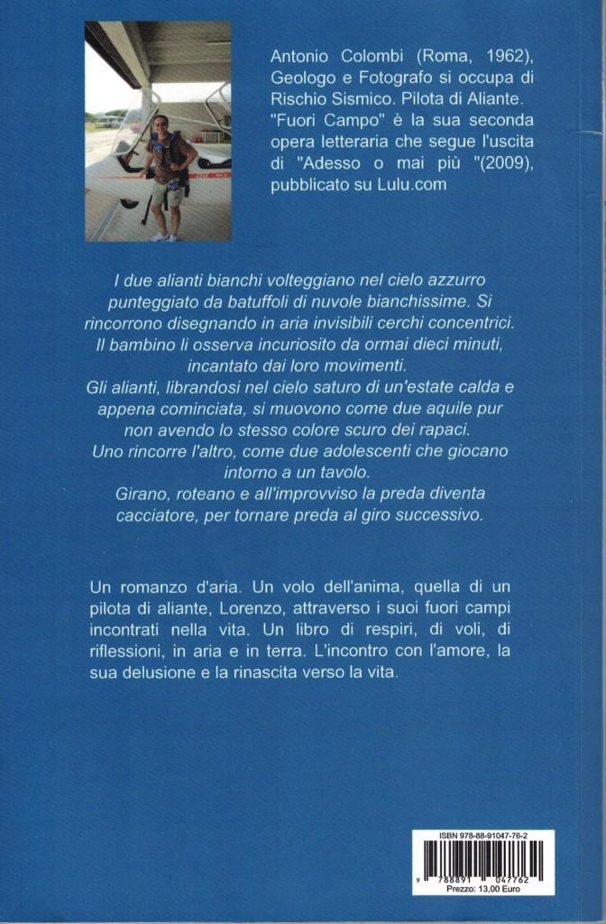 Fuori Campo - Antonio Colombi - IV di copertina