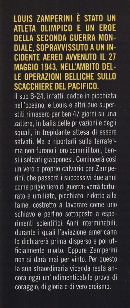 Sopravissuto - Louis Zamperini - III copertina