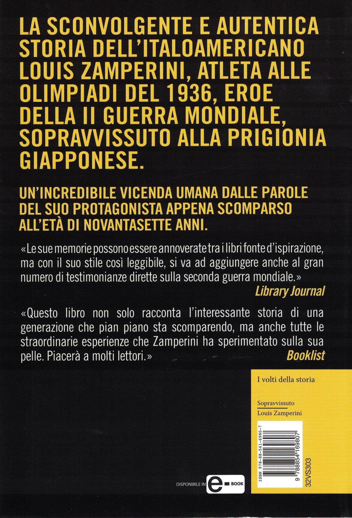 Sopravissuto - Louis Zamperini - IV copertina
