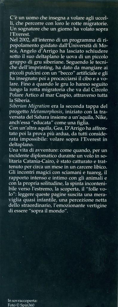 In volo sopra il mondo - Angelo D'Arrigo - Copri Copertina