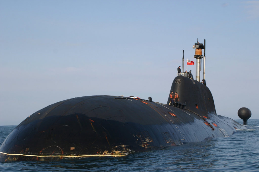 sottomarino classe akula fronte