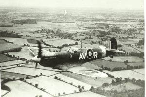 Spitfire in volo