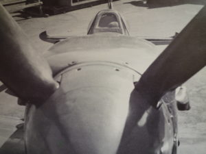 Spitfire visto dall'ogiva elica